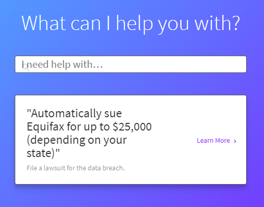 Equifax Lawsuit Chatbot
