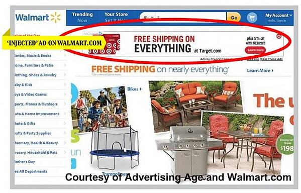 Ad Injection on Walmart