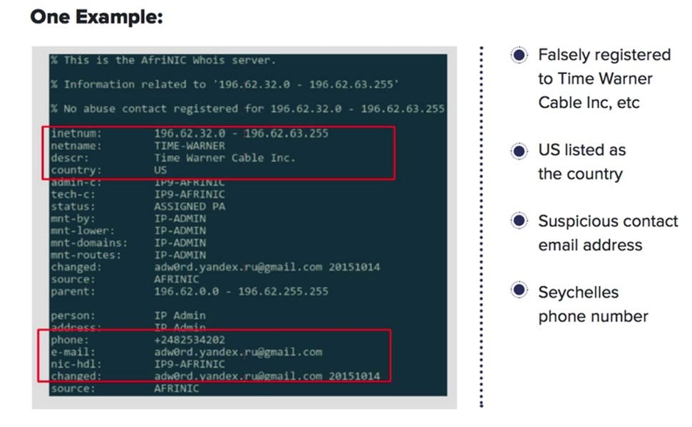 example of domain spoofing