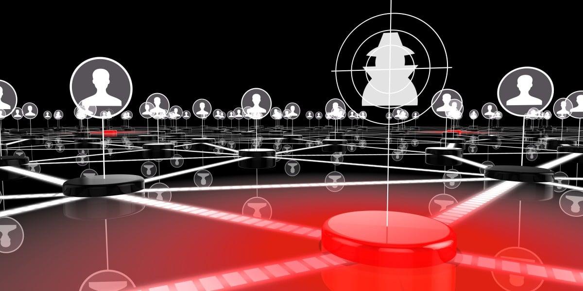 Botnet-controller-infecting-network-concept