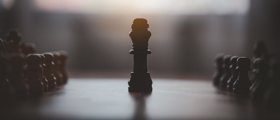 landscape photo of chess piece on the chess board